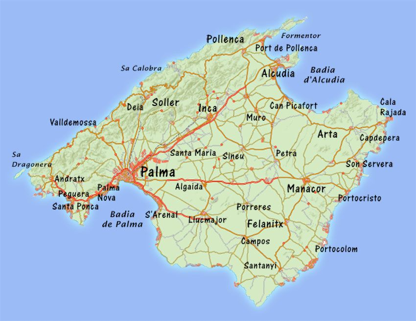 Large Mallorca Maps For Free Download And Print High Resolution